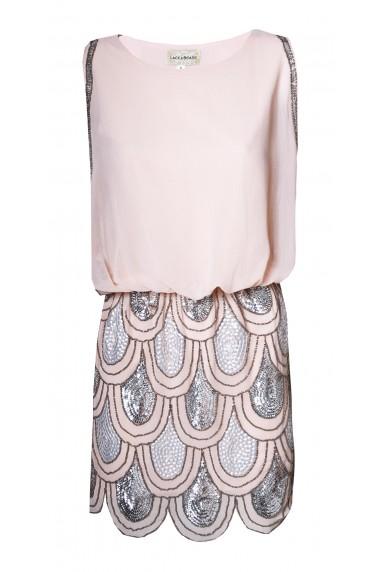 Lace & Beads Sharon-Angela Pink Embellished Dress