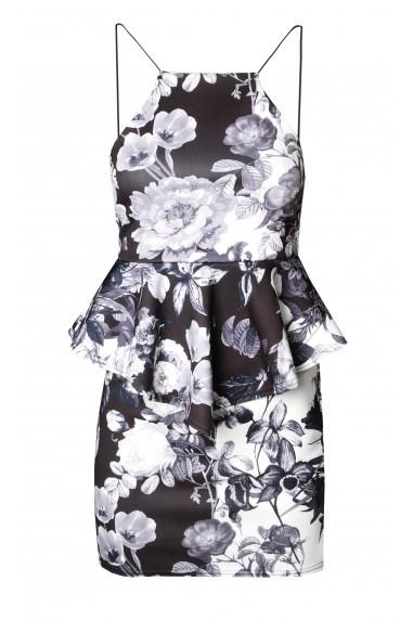 TFNC Peplum Black Dress