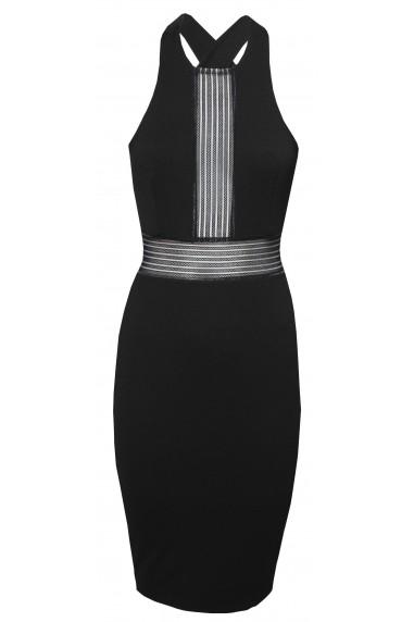 TFNC Jeda Black Midi Dress