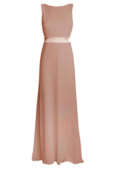 TFNC Halannah Dark Nude Maxi Dress