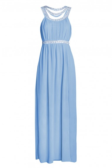 TFNC Helana Blue Maxi Embellished Dress