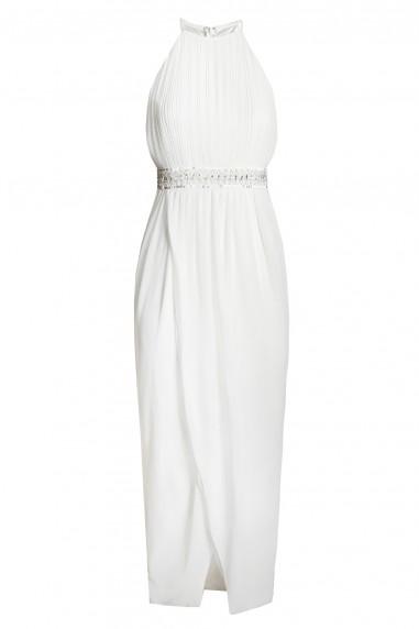 TFNC Serene White Embellished Dress