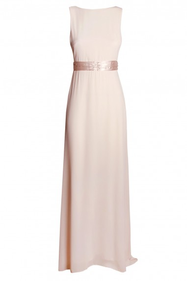 TFNC Halannah Embellished Nude Maxi Dress