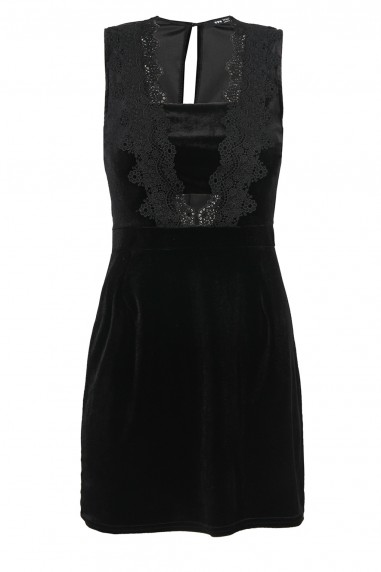 TFNC Louisa Black Velvet Dress