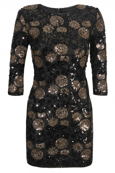 TFNC Paris Dotty Black Sequin Dress