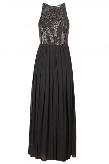 Lace & Beads Trudi Dark Grey Maxi Dress