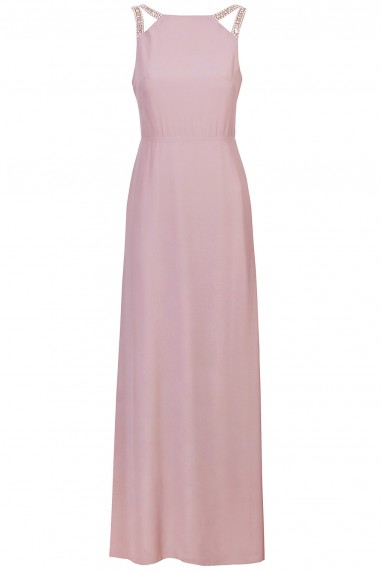 TFNC Riva Pale Mauve Maxi Embellished Dress