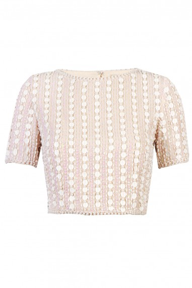 Lace & Beads Letty Nude Top