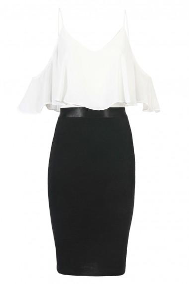 TFNC Marley Black Cami Dress