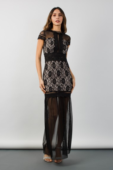 TFNC Katrina Black Maxi Dress