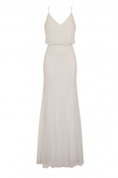 Lace & Beads Keeva White Maxi Dress