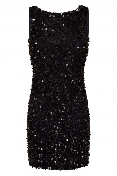 Lace & Beads Mahir Navy Sequin Mini Dress