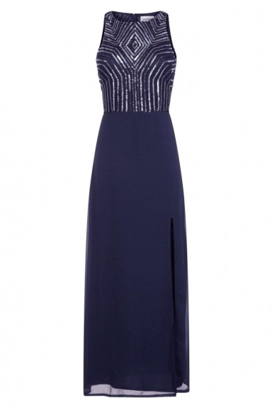 Lace & Beads Adelina Navy Maxi Dress