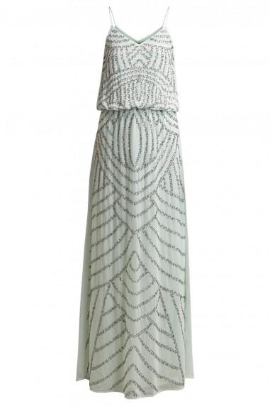 Lace & Beads Maple Jemma Mint Embellished Maxi Dress