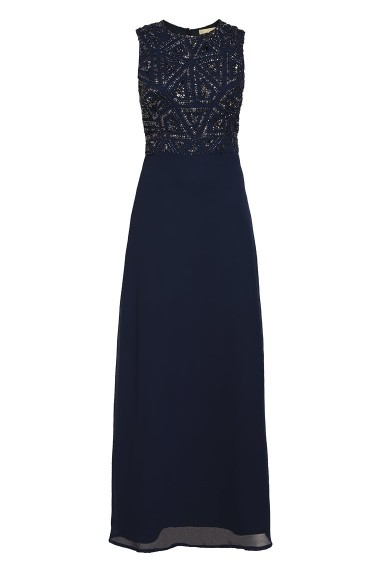 Lace & Beads Star Navy Maxi Dress