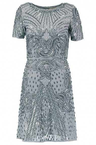 Lace & Beads Tara Grey Embellished Dress