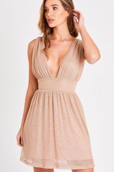 Skirt & Stiletto Maya Rose Gold Mini Dress