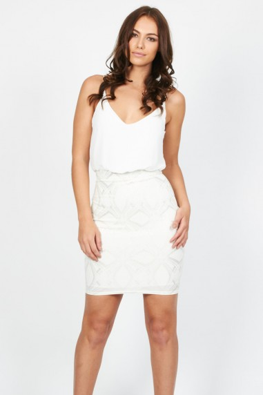 TFNC Kirsty Biss White Dress