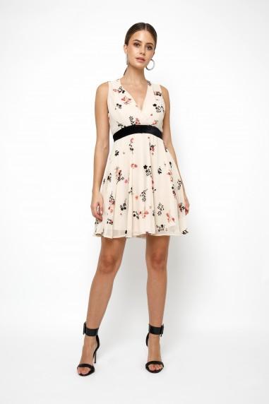 TFNC Nordi Too Cream Mini Dresses