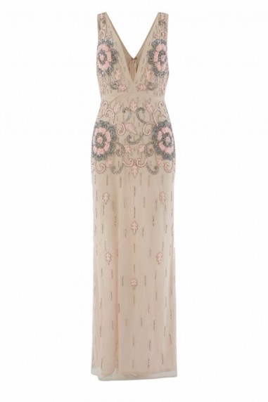 Lace & Beads Gilly Pink Maxi Dress