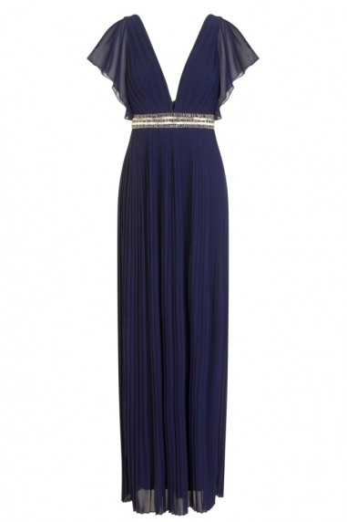 TFNC Sienna Embellished Navy Maxi Dress