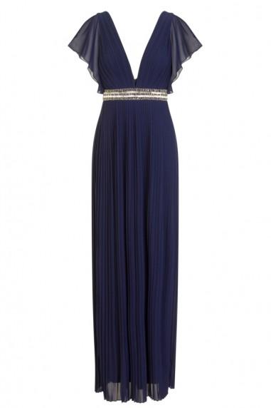 TFNC Sienna Embellished Navy Maxi Dress