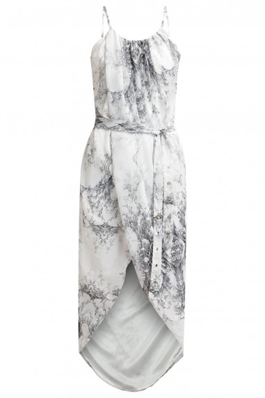 TFNC Zeus Printed White Dress