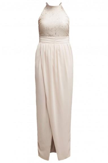 TFNC Giwen Nude Sequin Dress