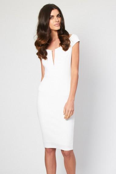 TFNC Noulia White Glitter Midi Dress