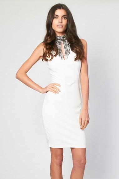 TFNC Amelie White Midi Dress