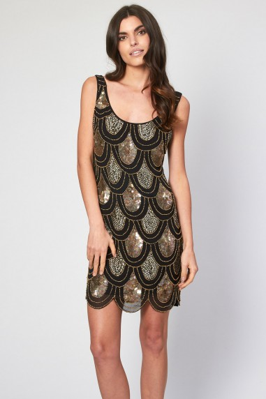 Lace & Beads Angela Black Sequin Dress