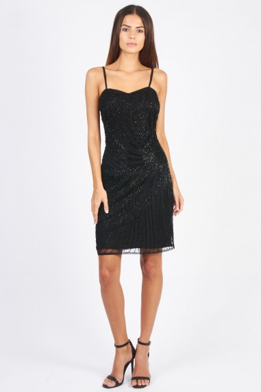 Lace & Beads Milly Black Embellished Dress