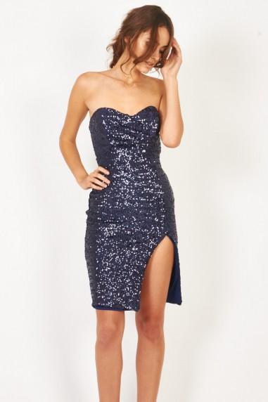TFNC Cirilla Navy Sequin Dress