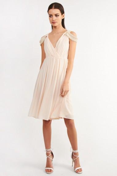 TFNC Hannah Nude Midi Dress