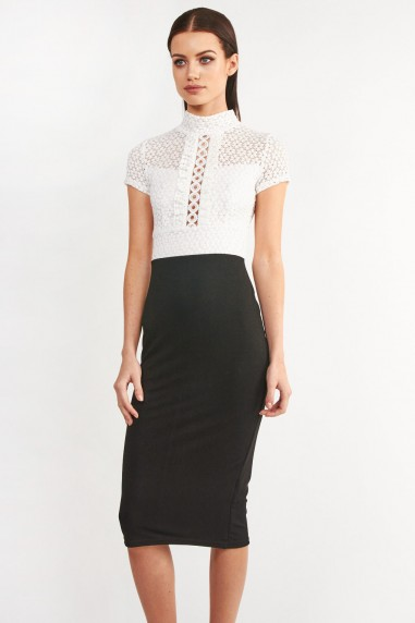 TFNC Angela White Bodycon Dress