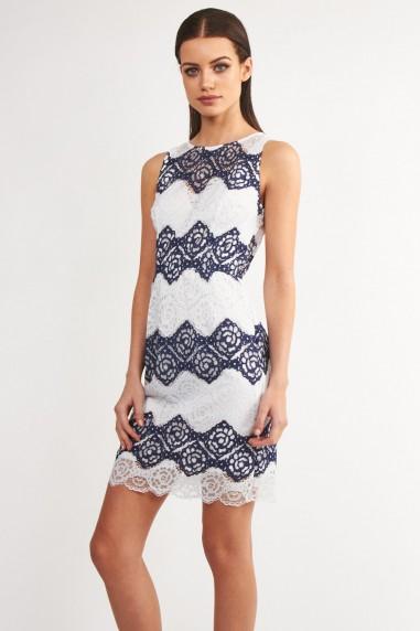 TFNC Carla Lace White Dress