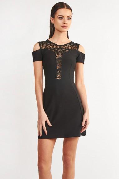 TFNC Lusia Black Mini Dress