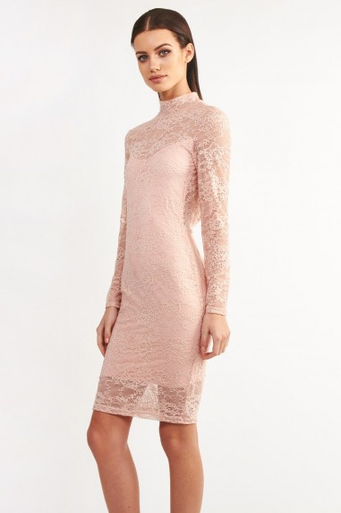 TFNC Rosalie Pink Bodycon Dress