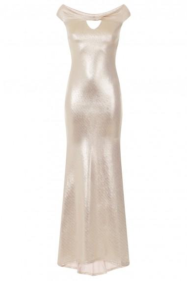 TFNC Solena Gold Maxi Dress