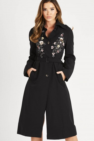 Lace & Beads Ramani Black Midi Jacket