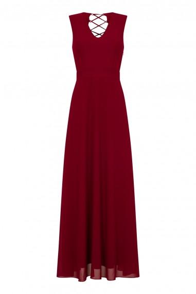 TFNC Candis Winter Wine Maxi Dress