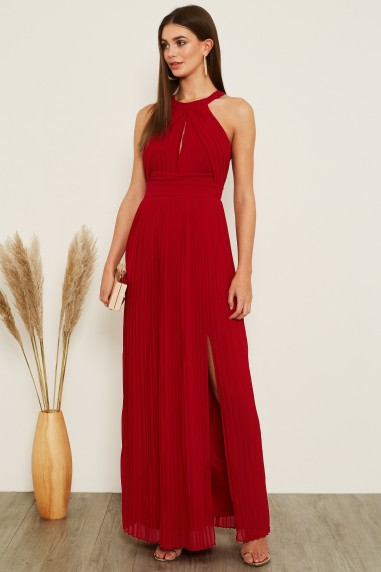 TFNC Prague Winter Wine Maxi Dress