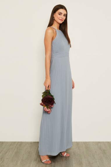 TFNC Serene Blue Grey Maxi Dress
