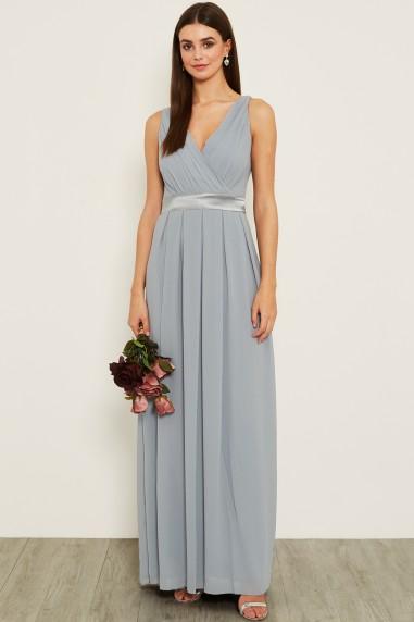 TFNC Kily Blue Grey Maxi Dress