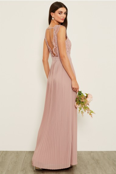 TFNC Shannon Pale Mauve Maxi Dress