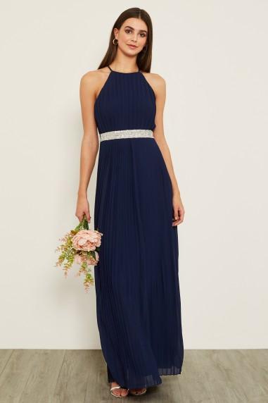 TFNC Serene Embellished Navy Maxi Dress