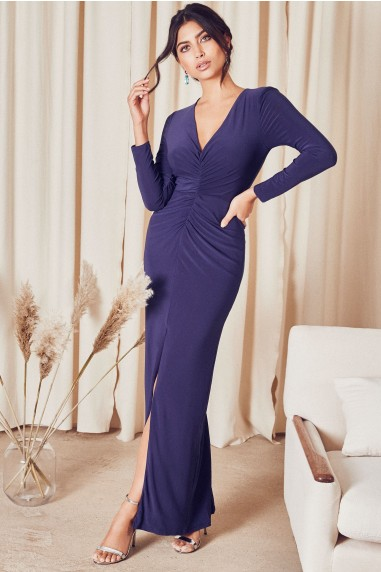 TFNC Izaro Navy Maxi Dress
