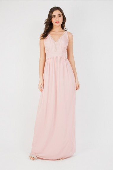 TFNC Sallie Pearl Pink Maxi Dress