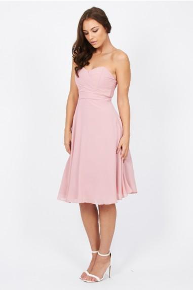 TFNC Debutante Pink Midi Dress