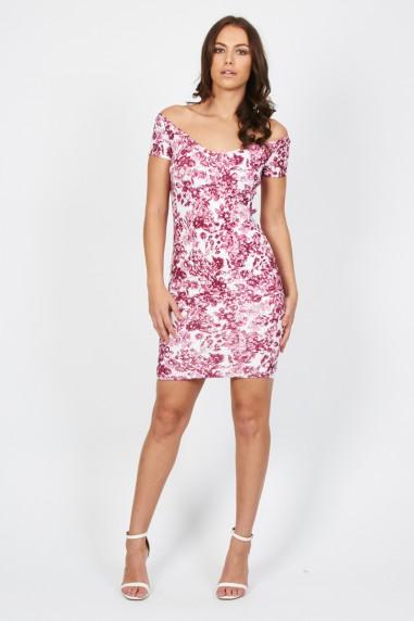 TFNC Shela Floral Pink Dress
